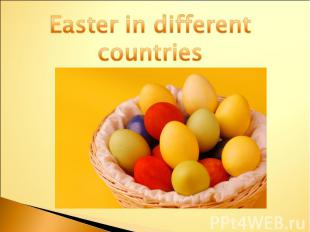 Easter in different countries