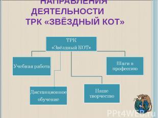 Направления деятельности ТРК «Звёздный КОТ»