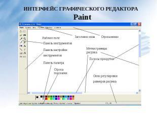 ИНТЕРФЕЙС ГРАФИЧЕСКОГО РЕДАКТОРА Paint