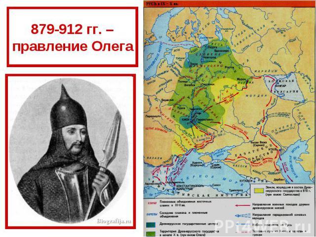 879-912 гг. – правление Олега