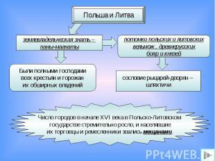 Польша и Литваземлевладельческая знать – паны-магнатыпотомки польских и литовски