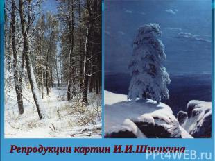 Репродукции картин И.И.Шишкина