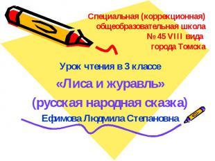 Специальная (коррекционная) общеобразовательная школа № 45 VIII вида города Томс