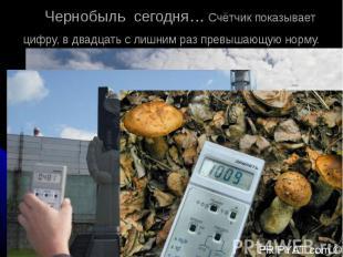 Чернобыль сегодня… Счётчик показывает цифру, в двадцать c лишним раз превышающую