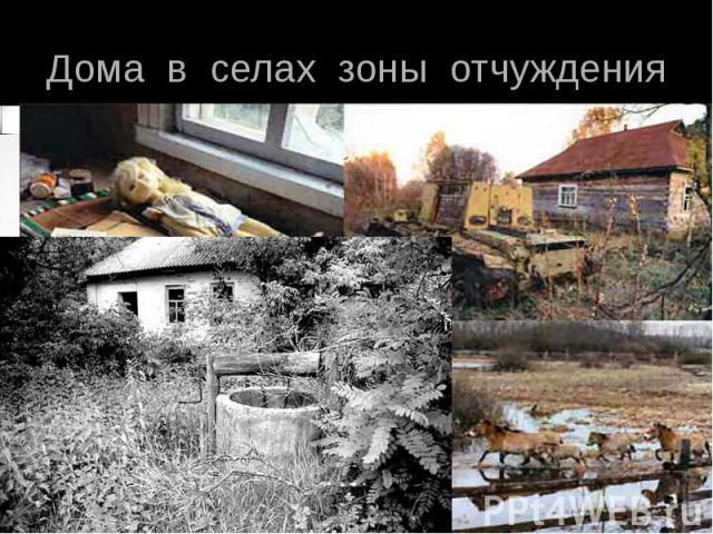 Дома в селах зоны отчуждения
