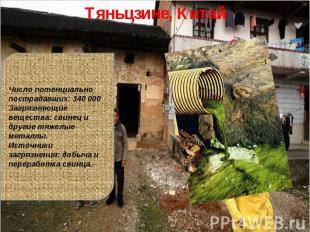 Тяньцзине, КитайЧисло потенциально пострадавших: 140 000Загрязняющие вещества: с