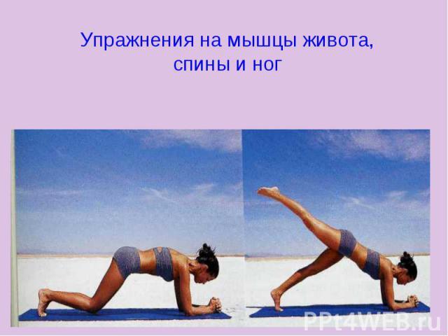 Упражнения на мышцы живота, спины и ног