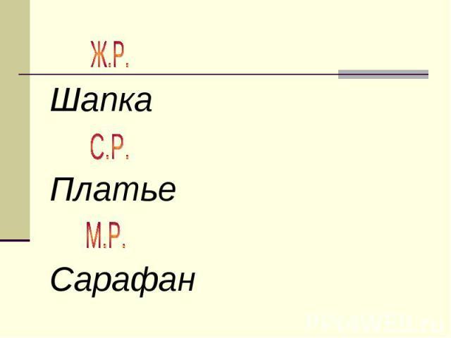 ШапкаПлатьеСарафан