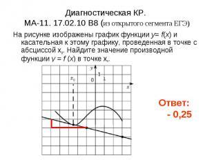 Диагностическая КР. МА-11. 17.02.10 B8 (из открытого сегмента ЕГЭ) На рисунке из