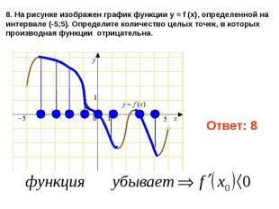8. На рисунке изображен графикфункции y = f (x), определенной на интервале (-5;