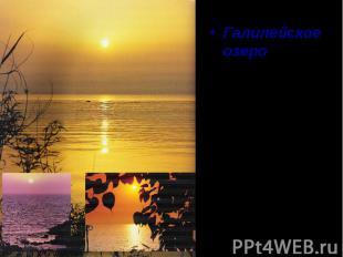 Галилейское озеро – это место, откуда берёт начало христианство. Это поистине «м