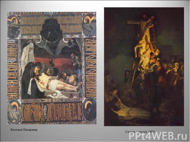 Васнецов ПлащаницаСнятие с креста. 1634