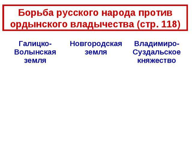 Борьба русского народа против ордынского владычества (стр. 118)