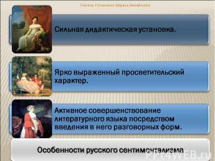 Учитель Сотниченко Марина Михайловна Сильная дидактическая установка. Ярко выраж