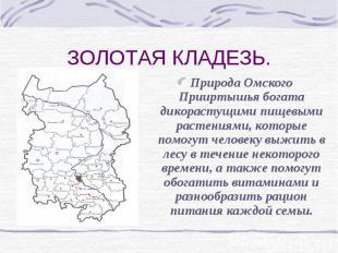 ЗОЛОТАЯ КЛАДЕЗЬ. Природа Омского Прииртышья богата дикорастущими пищевыми растен