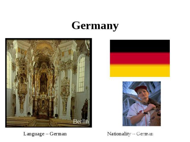 Germany Language – German Nationality – German