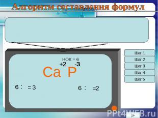 Алгоритм составления формул