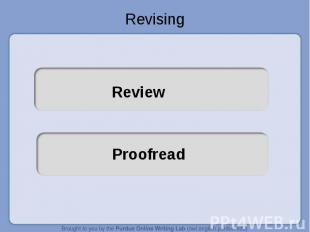 Revising ReviewProofread