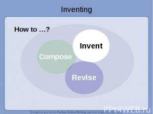 Inventing How to …?