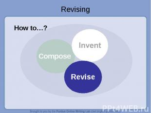 Revising How to…?