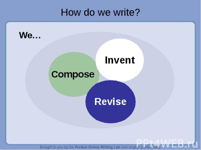 How do we write?We…