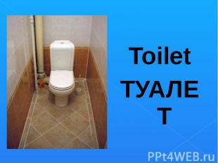 ToiletТУАЛЕТ