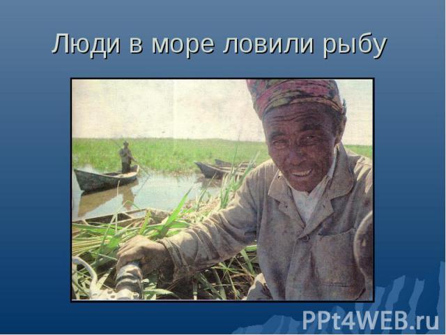 Люди в море ловили рыбу