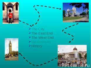 The CityThe East EndThe West EndWestminsterHistory