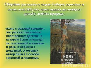 Сборник рассказов о людях Сибири, взрослых и детях, всех тех, кто умеет ценить н
