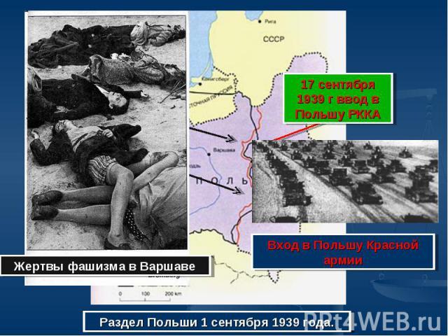 17 сентября 1939 г ввод в Польшу РККАВход в Польшу Красной армииЖертвы фашизма в ВаршавеРаздел Польши 1 сентября 1939 года.