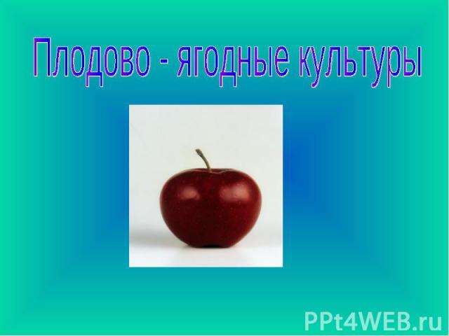 Плодово - ягодные культуры