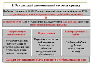 1.От советской экономической системы к рынку Выборы Президента РСФСР и августов