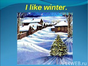I like winter.
