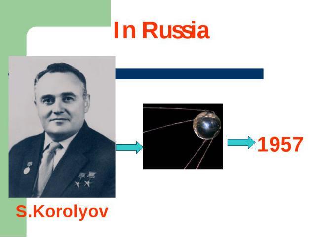 In Russia 1957S.Korolyov