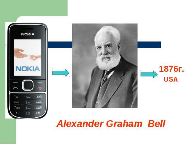1876г.USA Alexander Graham Bell