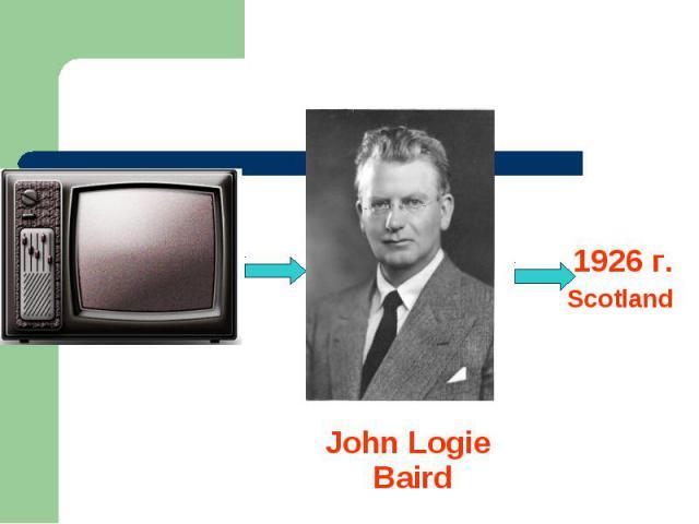 1926 г.Scotland John Logie Baird