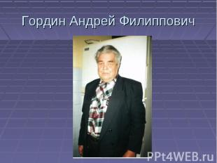 Гордин Андрей Филиппович