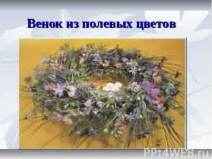 Венок из полевых цветов