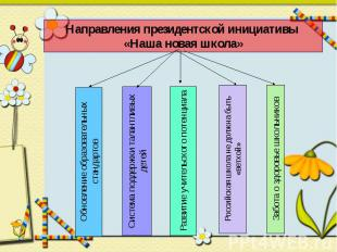 Направления президентской инициативы «Наша новая школа»Обновление образовательны