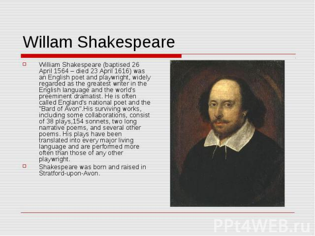a look at william shakespeares literary sources