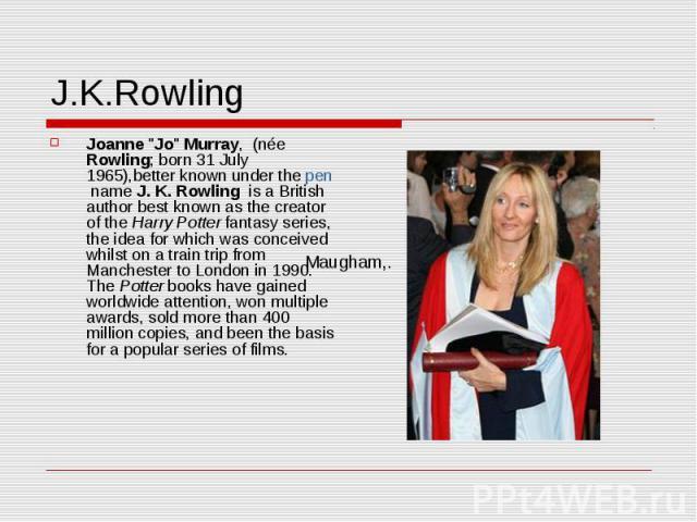 J.K.Rowling Joanne
