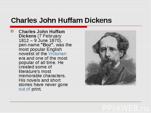 a biography of charles dickens the english novelist A brief biography english novelist, generally considered the greatest of the victorian period (victorian era: download report the book tells the story of the adventures of a club formed by samuel pickwick the chief theme of the novel is their travels throughout the english countryside.