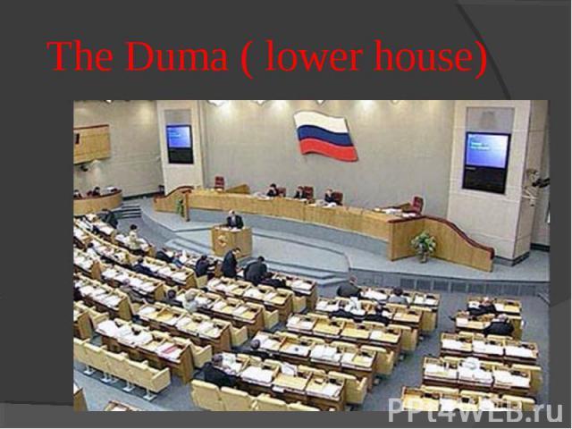 The Duma ( lower house)