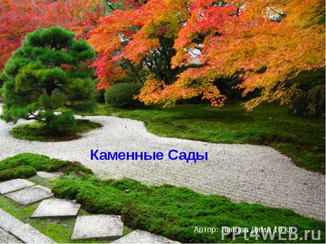Каменные Сады Автор: Липцев Дима 10 кл.