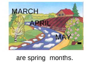 MARCHAPRIL MAYare spring months.