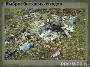Выброс бытовых отходов.