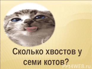 Сколько хвостов у семи котов?