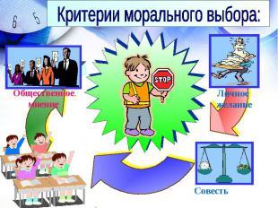 Критерии морального выбора: