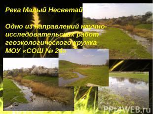 Река Малый НесветайОдно из направлений научно-исследовательских работ геоэкологи