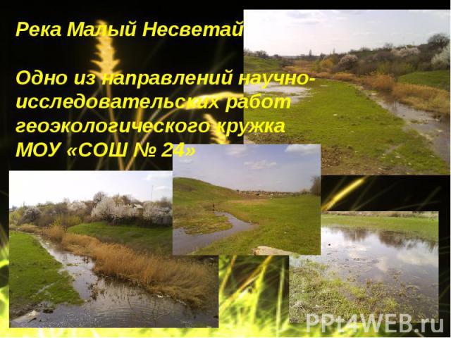 Река Малый НесветайОдно из направлений научно-исследовательских работ геоэкологического кружка МОУ «СОШ № 24»